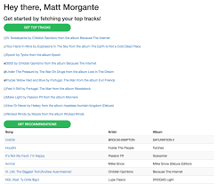 — A Api Created I Using How Spotify Matt The Playlist Morgante Personalised Discovery