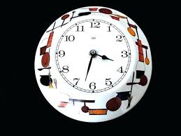 elgin wall clock vintage wall clock wall clock mid century kitchen wall clock painted metal vintage