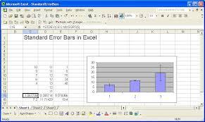 Standard Error Bars In Excel