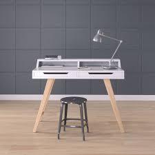 Work Desk Scandinavian White 3D model