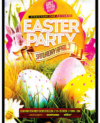 Easter Flyer Template Party Flyer Templates For Clubs