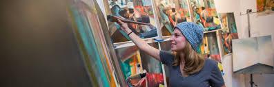 degrees majors academics na university purdue university female student oil painting in studio