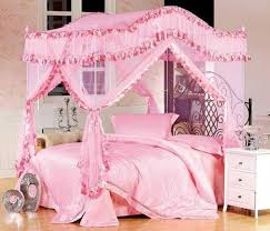 Pink Princess Girls Twin Canopy Bed — VINEYARD King Bed Pretty