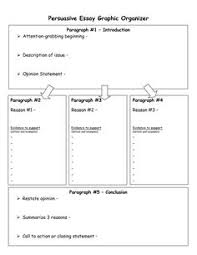 another graphic organizer for essay writing this one has great  writing graphic organizers persuasive essay graphic organizer now doc