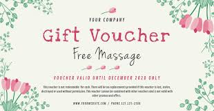 Gift Voucher Template Spa Gift Voucher Template Postermywall