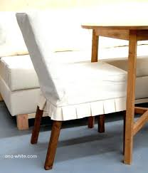 parson chair slip covers drop cloth parson chairs slipcovers with french pleats plus wooden table and