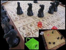 Wooden Horse Race Board Game Horse Race board game made of Roasted Maple and Baltic Birch by 68