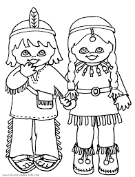 Small Picture drawings of indians kids Indians coloring pages and sheets can