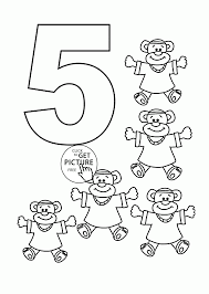Small Picture Coloring Pages Numbers 1 5 Coloring Coloring Pages