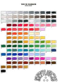 Touch Marker Chart Touch Marker Color Chart By Dfmurcia On Deviantart