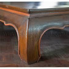 large thai teak coffee table with opium table legs kha khu 32 000