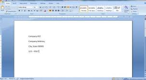 Create Business Letterhead In Word 2007 And 2010