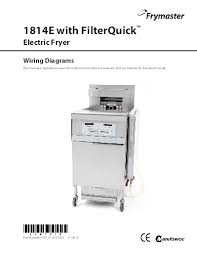 frymaster product 1814e filterquick wiring diagrams