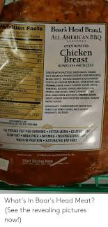 Nutrition Facts Boars Head Brand Ead Dran Serving Size 2oz