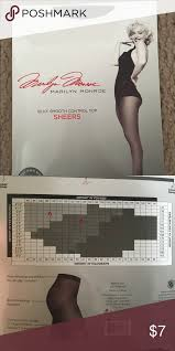 Worthington Tights Size Chart Marilyn Monroe Control Top Sheer Pantyhose Nwt This Is A
