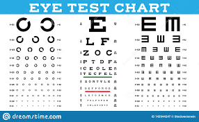 Child Eye Test Chart Eye Test Chart Set Vector Vision Test Optical Exam