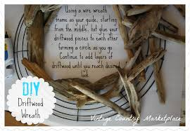 When I make my wreaths, I only use the wire frame as a guide. I don't glue  the driftwood to the frame. I start off my wreath by placing paper  underneath the ...