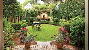 Designer Backyards Delectable Classic Courtyards Southern Living
