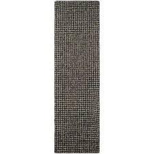 super indo natural bogard dark brown 2 ft x 8 ft runner rug