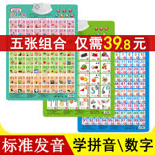 Chinese Sound Chart Usd 11 39 Kindergarten Pinyin Learning Consonant Vowel