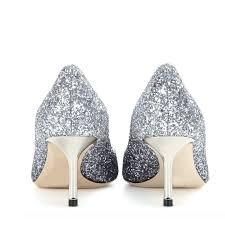 silver wedding shoes glitter pointy toe kitten heel sparkly pumps Wedding Shoes Glitter Heel silver wedding shoes glitter pointy toe kitten heel sparkly pumps image 3 wedding shoes sparkly heel