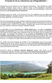 Sommaire Croquez La Vie Au Naturelp 3 Carte D Identité Du Lac