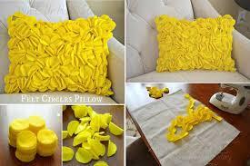 decorative pillow designs ideas. diy felt circle decorative pillows how to instructions pillow designs ideas