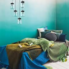 Green And Aqua Bedroom | Green And Blue Colour Schemes | Colour | Trend |  PHOTO