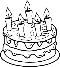Coloring Pages Of Birthday Cakes Colouring Pages Of Birthday Cake
