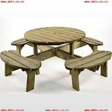 brackenstyle aberdeen round pine 8 seat picnic table 5pcd0vjk