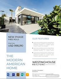 Free Modern Real Estate Flyer Template Word Psd Apple