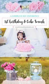 a complete diy 1st birthday cake smash