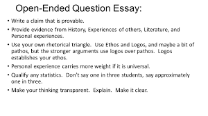 tools for success on the ap lang and comp exam ppt open ended question essay