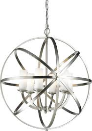 z lite 6017 6l bn aranya brushed nickel pendant light fixture zlt regarding brushed nickel pendant