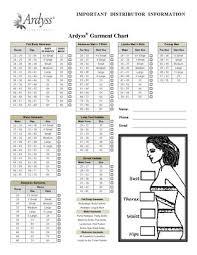 Ardyss Garment Measuring Chart By Ardyss Lifestyle Issuu