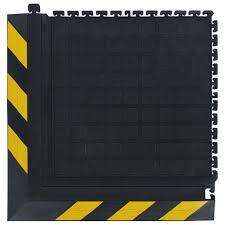 Black And Yellow Stripes Border Andersen Co No 522 Hog Heaven Dry Anti Fatigue Modular Tile Iii