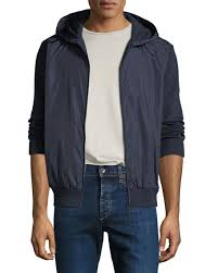 Canada Goose Men s WindBridge Wool   Nylon Hoodie Jacket