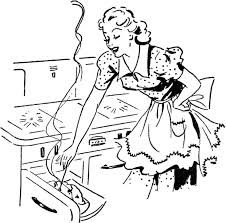 woman cooking clipart black and white. Unique White Best Baking And Vintage Art Images Retro Clipart Cooking Woman Black  White To Cooking Clipart Black And White I