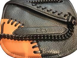 spain coach baseball chain leather whipstitch link cross bag 9cd46 39226