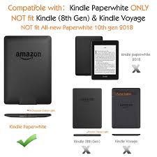 Kindle Paperwhite Charging Light Moko Case For Kindle Paperwhite Premium Vertical Flip Cover With Auto Wake Sleep Fits All Paperwhite Generations Prior To 2018 Will Not Fit All New
