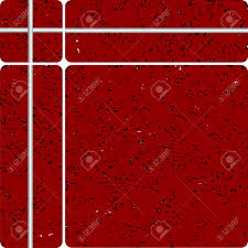 Contemporary Red Floor Tiles Texture Stone Tipe Ceramic Vector Art Illustration To Creativity Design