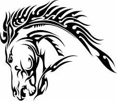 tribal horse head clip art. Beautiful Art Horse Head Tatoo 2379620 License Personal Use Intended Tribal Clip Art