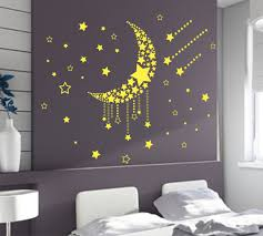moon and stars wall art stickers