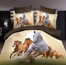 horse bedding sets bedspreads 3d animal print doona quilt duvet cover bed sheet linen queen size