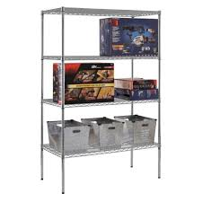 sandusky lee 48 x 24 in nsf chrome wire shelving