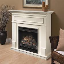 image of dimplex white electric fireplace