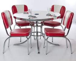 Round Formica Table Kitchen Fascianting Retro Kitchen Table And Chairs Shiny Grooved