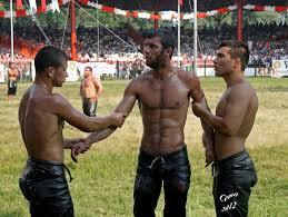Naked lesbian turkish oil wrestling