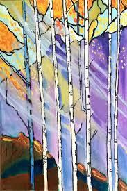 saatchi art artist katharine nikki dalton painting birch trees art