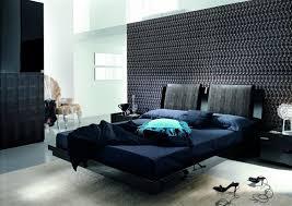 Bedroom Astonishing Modern Blue And Black Bedroom Decoration Design